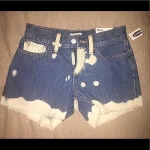 Old Navy shorts. Bleach effects.  Size 10 girl